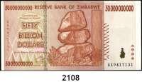 P A P I E R G E L D,AUSLÄNDISCHES  PAPIERGELD Simbabwe 100.000 Dollars bis 50 Milliarden Dollars 2008.  Pick 75, 76, 81, 82, 85, 86, 87.  LOT 7 Scheine.