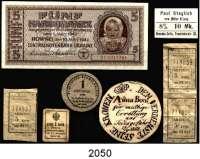P A P I E R G E L D,L O T S      L O T S      L O T S  Konvolut:  5 Karbowanez 10.3.1942.  Ros. ZWK-49.  1 Pfennig 1920 Stadtkasse Schmalkalden.  Tieste 6585.05.05.2.  Rußland, 1 Kopeke o.D.(1917).  Pick 32.  3 Einzelfahrscheine Mynavtotrans-Bus zu je 5 Kopeken(1988).  Paul Steglich, vorm. Müller&Lang, Dresden-Cotta, Pennricher Str.26, 8% 10 Mk.;