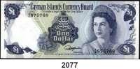 P A P I E R G E L D,AUSLÄNDISCHES  PAPIERGELD Cayman Islands 1 Dollar 1974(1985).  A/6.  Pick 5 e.