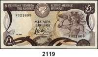 P A P I E R G E L D,AUSLÄNDISCHES  PAPIERGELD Zypern 1 Pfund 1.11.1982.  Pick 50.