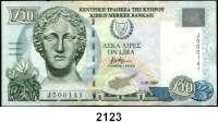 P A P I E R G E L D,AUSLÄNDISCHES  PAPIERGELD Zypern 10 Pfund 1.10.1997.  Pick 62 a.