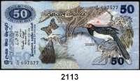 P A P I E R G E L D,AUSLÄNDISCHES  PAPIERGELD Sri Lanka 50 Rupees 26.3.1979.  Pick 87 a.