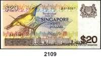 P A P I E R G E L D,AUSLÄNDISCHES  PAPIERGELD Singapur 20 Dollars o.D.(1979).  Pick 12.