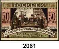 P A P I E R G E L D   -   N O T G E L D,Schleswig - Holstein Fochbek. Ausgabestelle?.  50 Pfennig 1.4.1917-31.12.1917.  G/M 370.1.  LOT 4 Scheine.