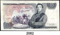 P A P I E R G E L D,AUSLÄNDISCHES  PAPIERGELD Großbritannien 5 Pfund o.D.(1973-1980).  Pick 378 b.  LOT 3 Scheine mit fortlfd. Nummern.