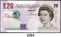 P A P I E R G E L D,AUSLÄNDISCHES  PAPIERGELD Großbritannien 20 Pfund Copyright 1999 (1999-2004).  Pick 390 b.