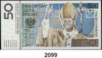 P A P I E R G E L D,AUSLÄNDISCHES  PAPIERGELD Polen 50 Zlotych 16.10.2006.  Pick 178.  Papst Johannes Paul II.