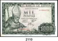 P A P I E R G E L D,AUSLÄNDISCHES  PAPIERGELD Spanien 1000 Pesetas 19.11.1965(1971).  Pick 151.