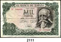 P A P I E R G E L D,AUSLÄNDISCHES  PAPIERGELD Spanien 1000 Pesetas 17.9.1971(1974).  Pick 154.
