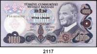 P A P I E R G E L D,AUSLÄNDISCHES  PAPIERGELD Türkei 1000 Lira 1970.  Pick 191.