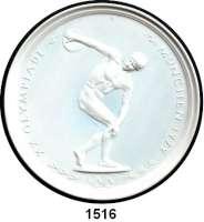 MEDAILLEN AUS PORZELLAN,Andere Hersteller Kaiser Einseitige weiße Plakette 1972.  Auf die olympischen Spiele in München.  Diskuswerfer des Myron.  194 mm.