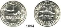 AUSLÄNDISCHE MÜNZEN,U S A  Gedenk Half Dollar 1936.  Wisconsin.  Schön 180.  KM 188.