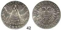 Österreich - Ungarn,Österreich Bundesstaat 1934 - 1938 5 Schilling 1936.  Schön 56.  KM 2853.  Madonna.