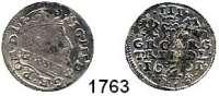AUSLÄNDISCHE MÜNZEN,Polen Sigismund III. 1587 - 1632 Dreigröscher 1601, Vilnius.  1,96 g.  Iger V 01.2.