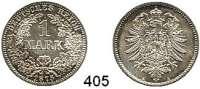 R E I C H S M Ü N Z E N,Kleinmünzen  1 Mark 1875 A.  Jaeger 9.