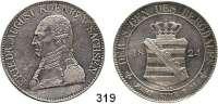 Deutsche Münzen und Medaillen,Sachsen Friedrich August I. (1763) 1806 - 1827 Ausbeutekonventionstaler 1824 GS.  Kahnt 426.  AKS 27.  Jg. 35.  Thun 302.  Dav. 862 A.