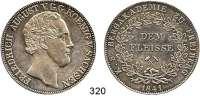 Deutsche Münzen und Medaillen,Sachsen Friedrich August II. 1836 - 1854 Prämiendoppeltaler 1841 G.  Bergakademie zu Freiberg