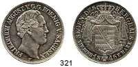 Deutsche Münzen und Medaillen,Sachsen Friedrich August II. 1836 - 1854 Ausbeutetaler 1846 F.  Kahnt 449.  AKS 100.  Jg. 77.  Thun 326 F.  Dav. 877.