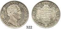 Deutsche Münzen und Medaillen,Sachsen Friedrich August II. 1836 - 1854 Taler 1848 F.  Kahnt 448.  AKS 99.  Jg. 76.  Thun 325 F.  Dav. 875.