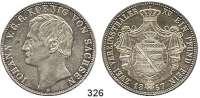 Deutsche Münzen und Medaillen,Sachsen Johann 1854 - 1873 Vereinsdoppeltaler 1857 F.  Kahnt 475.  AKS 126.  Jg. 109.  Thun 338.  Dav. 889.