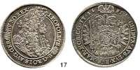 Römisch Deutsches Reich,Haus Habsburg Leopold I. 1657 - 1705 Taler 1691 K-B, Kremnitz.  28,86 g.  Herinek 733.  Voglh.225/V.  Dav. 3261.