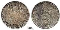 Deutsche Münzen und Medaillen,Sachsen Christian II., Johann Georg und August 1591 - 1611 Taler 1599 HB, Dresden.  28,7 g.  Keilitz/Kahnt 186.  Dav. 9820.