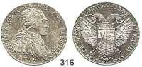 Deutsche Münzen und Medaillen,Sachsen Friedrich August III. 1763 - 1806 (1827) 2/3 Taler 1792 auf das Reichsvikariat, Dresden.  14 g.  Kahnt 1160.  Buck 184.
