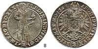 Römisch Deutsches Reich,Haus Habsburg Ferdinand II. 1619 - 1637 Taler 1625, Joachimsthal.  29,21 g.  Voglh. 138/II.  Dav. 3141.
