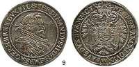 Römisch Deutsches Reich,Haus Habsburg Ferdinand II. 1619 - 1637 Taler 1627, Breslau.  28,75 g.  Voglh. 126/V.  Dav. 3156.