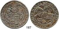 Deutsche Münzen und Medaillen,Mansfeld - Hinterort - Schraplau Gebhard VII., Albrecht VII., Philipp II. und Johann Georg I. 1540 - 1546 Taler 1544.  29,02 g.  Tornau 889.  Dav. 9513.