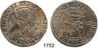 AUSLÄNDISCHE MÜNZEN,Niederlande Holland, Provinz. Reichstaler 1612.  28,77 g.  Delmonte 939 (R 1).  Dav.4831.