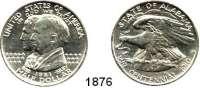 AUSLÄNDISCHE MÜNZEN,U S A  Gedenk Half Dollar 1921.  100 Jahre Bundesstaat Alabama.  Schön 153.  KM 148.